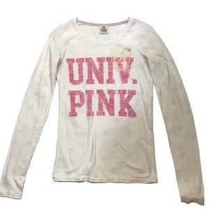 Pink Victoria's Secret Long Sleeve Shirt Sz S